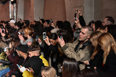 A general atmosphere and crowd at the runway during the Y/Project show Royalty Free Stock Photography