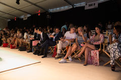 A general atmosphere front row during KYBOE Spring Summer 2017 Runway accessory show Stock Photography