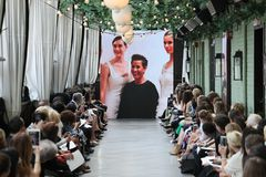 General atmosphere on the runway at the Amsale Tribute Spring 2019 runway show Stock Image