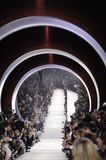 A general atmosphere at the runway during the Christian Dior show. PARIS, FRANCE - MARCH 04: A general atmosphere at the runway during the Christian Dior show as Royalty Free Stock Images