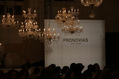 General atmosphere before the runway during the Pronovias Fall/Winter 2016 Couture Bridal Collection runway show Royalty Free Stock Photography