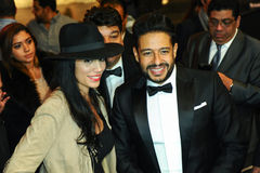 A general atmosphere with singer Mohamed Hamaki during the Big Apple Music Awards 2016 Concert Stock Image