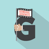 General Audiences Symbol-American Film Rating System Stock Image
