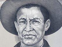 General Augusto Cesar Sandino portrait on Nicaragua 1000 cordoba. S 1987 banknote closeup, Nicaraguan revolutionary and leader, national hero of Nicaragua Royalty Free Stock Image