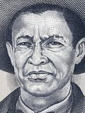 General Augusto Cesar Sandino portrait on Nicaragua 1000 cordoba. S 1987 banknote closeup, Nicaraguan revolutionary and leader, national hero of Nicaragua Stock Images