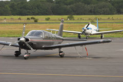 General aviation. Small private planes parked on the tarmac Royalty Free Stock Photos