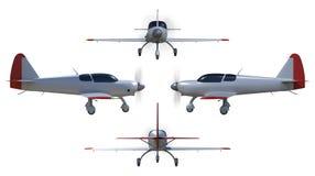 General aviation aircraft render Royalty Free Stock Photos