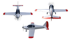 General aviation aircraft render Stock Image