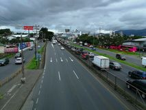 General Cañas highway. Costa Rica. This is a picture of the most important highway in San Jos Stock Photos