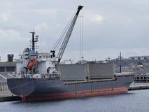 General cargo ship docked Stock Photography