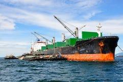 General cargo ship. International shipping Stock Photo