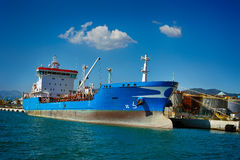 General Cargo ship in sea port Royalty Free Stock Photo