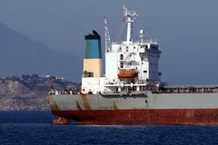 General cargo vessel: aft zone Stock Image