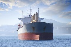 General cargo vessel: forward zon Royalty Free Stock Photography