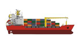 General cargo vessel. Vector format Stock Photography