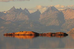 General Carrera湖。 库存照片