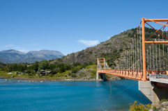 General Carrera Bridge - Bertrand Lake - Chile. General Carrera Bridge in Bertrand Lake - Chile royalty free stock photo