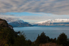 General Carrera, Carretera austral, carretera 7, Chile de Lago Fotos de archivo