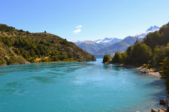 General Carrera Lake, Chilean Patagonia. Ending of General Carrera Lake, Chilean Patagonia stock photography