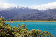 General Carrera Lake in Patagonia, Chile. Landscape at the General Carrera Lake in Patagonia, Chile Stock Photo