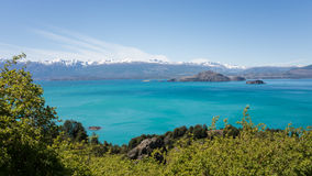 General Carrera Lake. A view over the General Carrera Lake on the Border of Argentina and Chile royalty free stock images