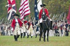 General Charles O'Hara con le bandierine britanniche Immagini Stock