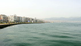 General city view, daliy life, izmir, turkey stock footage