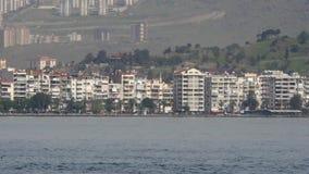 General city view, daliy life, izmir, turkey stock video footage