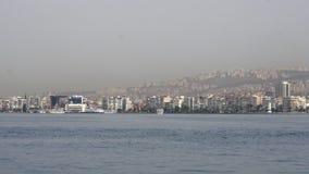 General city view, daliy life, izmir, turkey stock video
