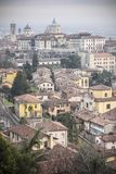 General city view of medieval area, Citta Alta, Bergamo,Lombard. Y,Italy royalty free stock images