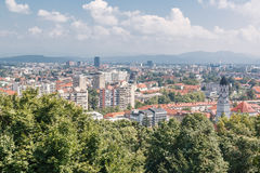 General cityscape view with various houses Royalty Free Stock Photos