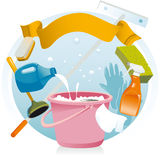 General cleaning Stock Photography