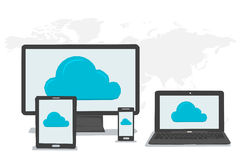 General cloud storage on different devices Stock Image