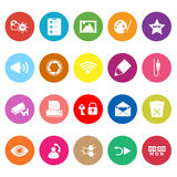 General computer screen flat icons on white background Royalty Free Stock Images
