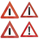 General Danger Signs In Germany Stock Images
