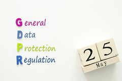 General Data Protection Regulation GDPR concept. General Data Protection Regulation GDPR concept Royalty Free Stock Images