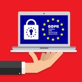 General Data Protection Regulation GDPR Concept Illustration - 25 May 2018. This is General Data Protection Regulation GDPR Concept Illustration - 25 May 2018 Stock Photography