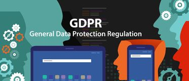 General Data Protection Regulation GDPR Concept Illustration stock photo
