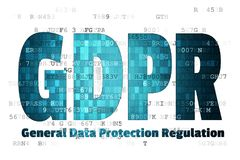 General Data Protection Regulation GDPR European Union EU Security technology background.  Stock Photography