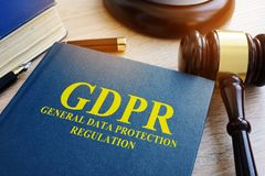 General Data Protection Regulation GDPR. General Data Protection Regulation GDPR and gavel Stock Photo