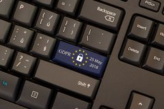 General Data Protection Regulation GDPR. On keyboard button Stock Photos