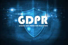 General Data Protection Regulation GDPR. Symbol Stock Photo