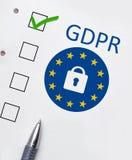 General Data Protection Regulation GDPR royalty free stock photo