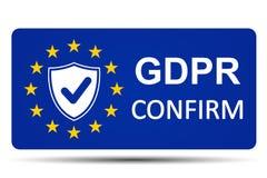 General Data Protection Regulation sign confirm – vector. General Data Protection Regulation sign confirm – stock vector stock illustration