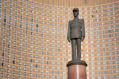 General de Gaulle monument in Moscow Royalty Free Stock Image