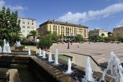 general de Gaulle Square在阿雅克修 库存照片