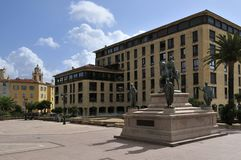 General de Gaulle Square in Ajaccio Royalty Free Stock Image