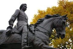 General de la guerra civil a caballo Foto de archivo libre de regalías