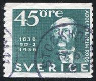 General de postmaster Adolf Wilhelm Roos Fotografia de Stock