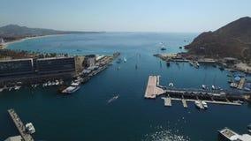General del puerto y de los barcos almacen de video